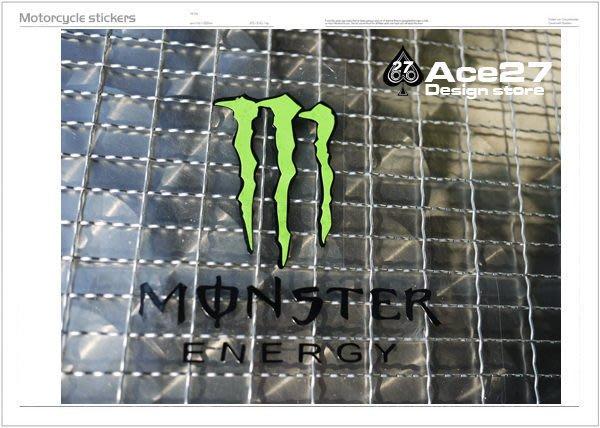 ACE27 艾斯   機車貼紙 機車彩貼 DC MONSTER 爪子 2011 2012