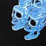 19SS!OW OFF-WHITE flaming skull藍色火焰骷髏短Tee 女神款完美版 virgil主理cdg