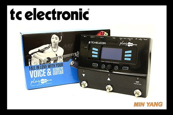 【民揚樂器】公司貨 效果器 TC HELICON Play Acoustic 木吉他 人聲效果器