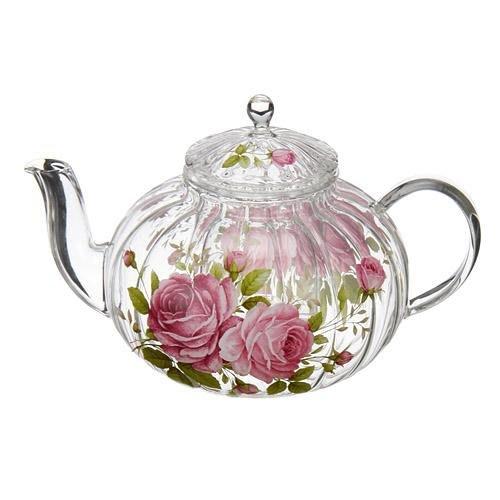 日本【四季玫瑰 La Reine Rose】耐熱雕紋茶壺
