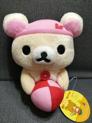 [絕版收藏]SAN-X正版授權非賣景品-- 拉拉熊( 懶熊妹)抱球球絨毛玩偶,可愛!