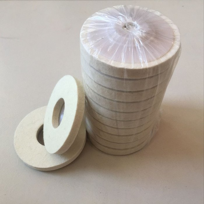 可可小鋪-羊毛盤輪拋光輪100mm金屬鏡面不銹鋼拋光片角磨機羊毛氈輪打磨片