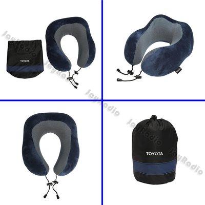 TOYOTA 記憶棉旅行枕 飛機枕 (藍) 護頸枕 紓壓枕 頭枕 脖枕 頸枕 原廠正品 全新 只有一個 台北可面交