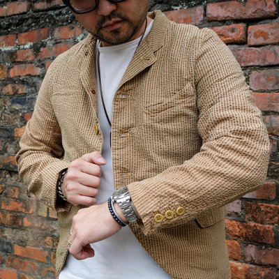 日產 Gypsy & Sons 透氣泡泡棉 清涼風 法式小翻領休閒西服