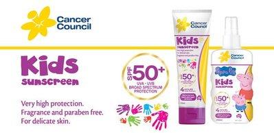 澳洲製兒童專用 防曬乳SPF 50+ Cancer Council 110ml 軟管包裝 夏季防曬