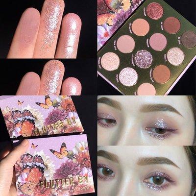 發現美 Colourpop蝴蝶盤Flutter by 紫色蝴蝶 卡拉泡泡12色眼影盤