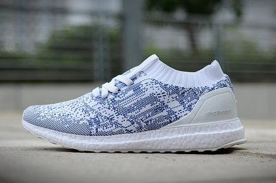D-BOX  Adidas ULTRA BOOST PARLEY UNCAGED 編織 襪套 透氣 白藍 情侶款