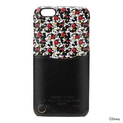 尼德斯Nydus~* 日本正版迪士尼 手機殼 保護殼 皮套 米奇 吊飾環 5.5吋 iPhone 6/6S+ Plus