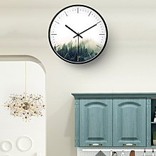 〖洋碼頭〗北歐現代簡約靜音掛鐘客廳創意森林藝術裝飾家用臥室大氣圓形鐘錶 bhm284