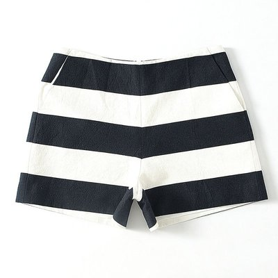 Small jie ~洛系列  撞色條紋短褲951472066  M