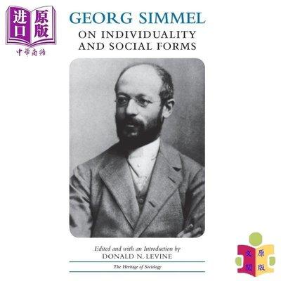 [文閲原版]Georg Simmel on Individuality and Social Forms 英文原版 格奧