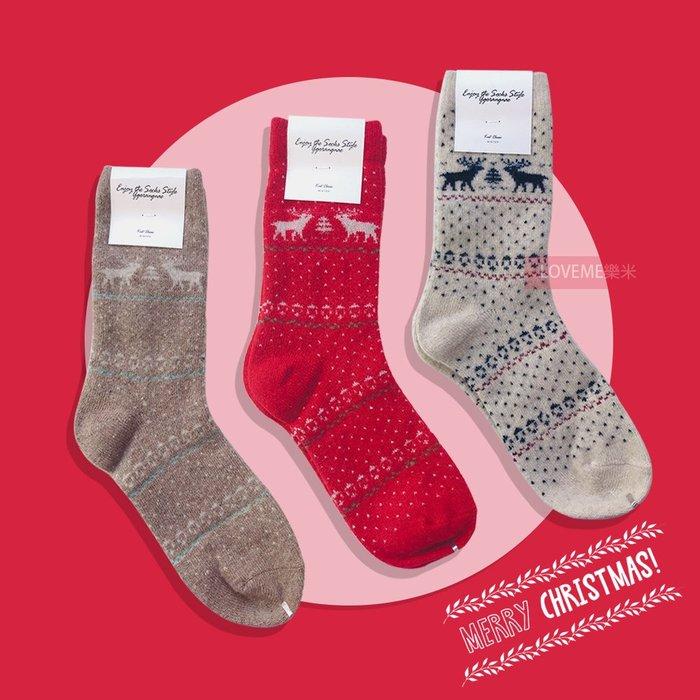 現貨 韓國 聖誕馴鹿羊毛襪 3款 聖誕節 馴鹿 羊毛 長襪 長統襪 襪子 秋冬 保暖