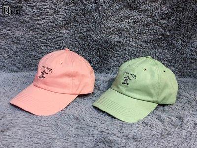 【QUEST】現貨 THRASHER GONZ OLD TIMER HAT 滑板人 經典LOGO 老帽 芥末綠 粉紅