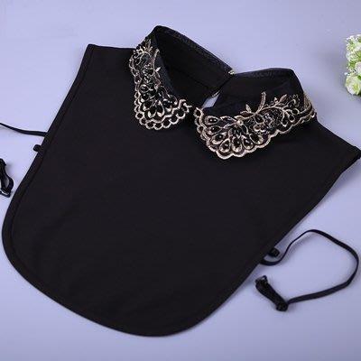 假領子 襯衫 領片-雪紡精美刺繡鑲鑽女裝配件73va45[獨家進口][米蘭精品]