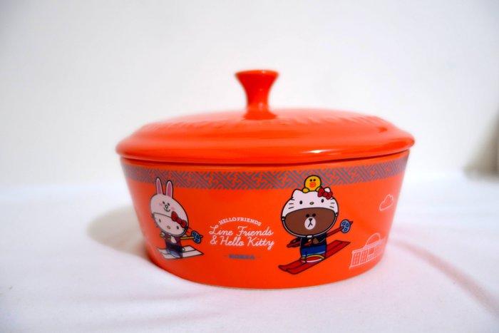 《全新》7-11Hello Kitty & LINE FRIENDS 聯名烤盤(附蓋) 現貨