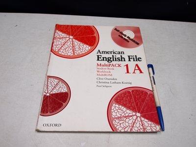 【考試院二手書】《American English File: Multipack 1A》│七成新(B11Z32)