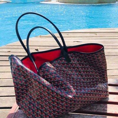Goyard包新款媽媽包大包旅行袋真皮單肩包子母包托特包健身包 藍色 紅色 黃色 綠色 橙色