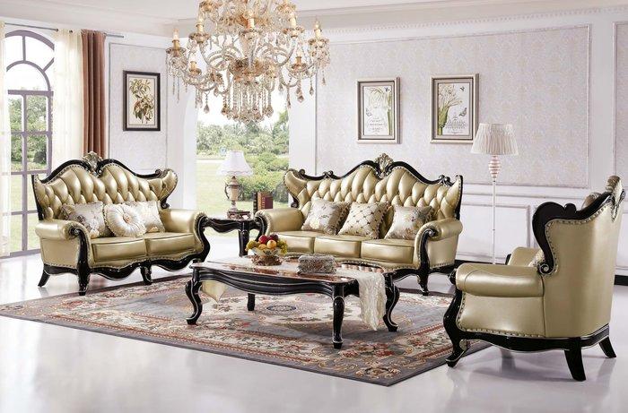 【大熊傢俱】A75 玫瑰系列歐式  歐式沙發  美式皮沙發 皮沙發 布沙發