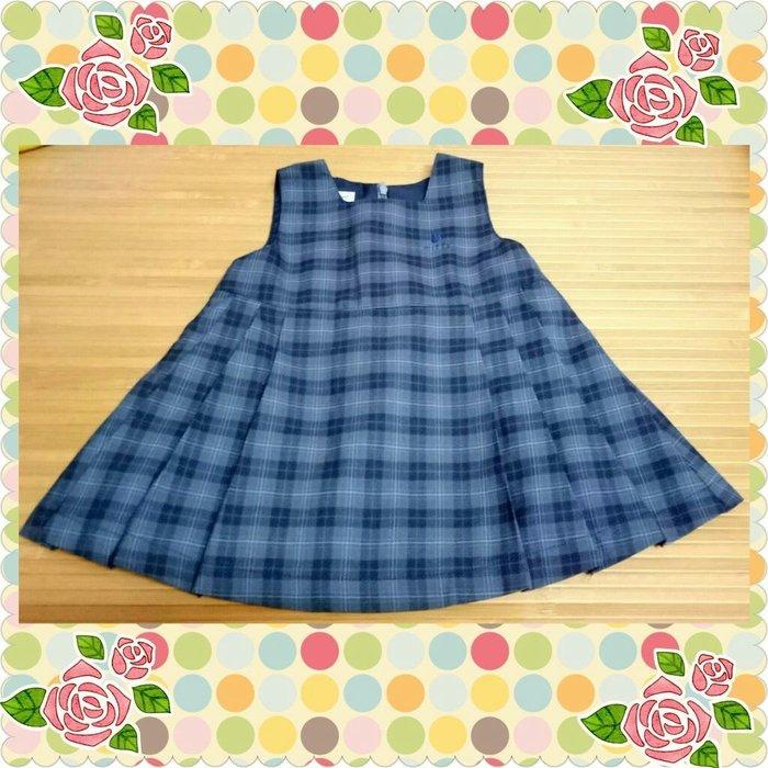 Miffy灰格紋女童背心裙