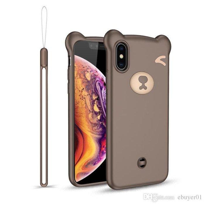 『四號出口』fashion case【 iPhone7PLUS/8PLUS 】 小熊 造型 矽膠 手機殼 保護殼 附掛繩