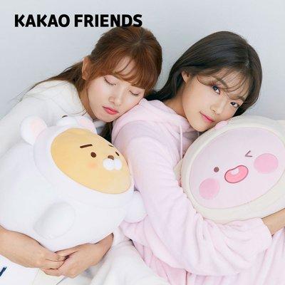 KAKAO FRIENDS 卡通毛絨抱枕APEACH沙發靠墊玩偶娃娃可愛公仔