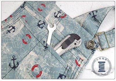 ✿小布物曲✿ 手作日系吊帶褲 工作褲 100%純棉布花 吊帶可調整長度 潮流 海軍 復古