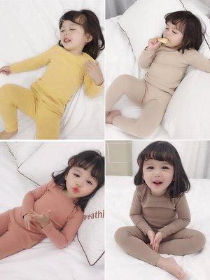 【溜。溜。選物】童裝 舒適的~棉質圓領純色居家睡衣