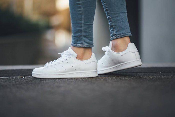 H 現貨  Adidas Originals Stan Smith S75104 白色皮革 真皮 全白 現貨 24.5cm