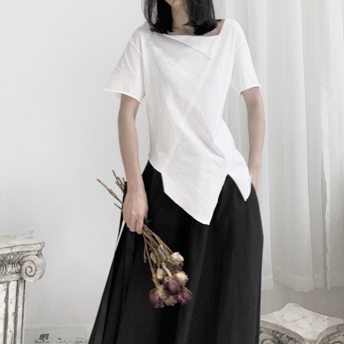 ||一品著衣|| 山本風日系暗黑yohji不規則拼接T恤小眾設計拼接短袖棉T恤 YM
