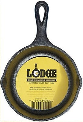 全新美國原裝進口 LODGE 5吋 迷你平底鍋 鑄鐵鍋 烤鍋 煎鍋 #H5MS *平行商城*