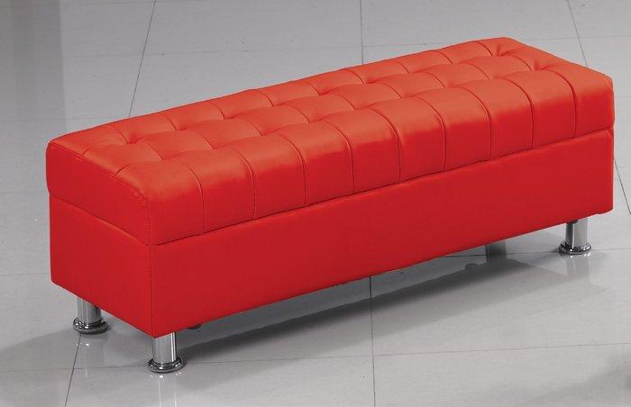 FA-188-5庫倫120紅皮沙發椅凳/大台北區/家具/餐桌椅/衣櫃/系統家具/沙發/床墊/茶几/高低櫃/1元起