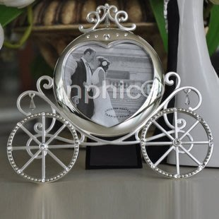 INPHIC-創意南瓜車型合金相框 婚禮創意