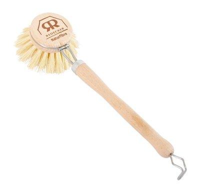 【德國Redecker】植物纖維 長柄鍋具刷 碗盤刷 洗滌刷 清潔刷具 洗碗刷子 山毛櫸木柄刷 可替換刷頭 德國製