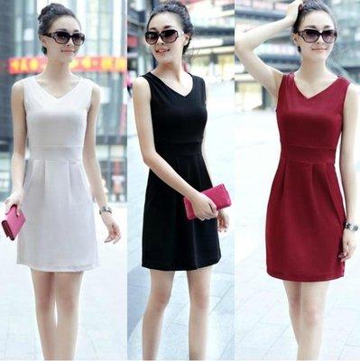 洋裝 連身裙韓版無袖包臀打底裙中長款吊帶衫內搭純色背心裙