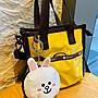 ♥ 小花日韓雜貨 --Lesportsac LINE FRIENDS 3427熊大兔兔鴨子掛飾刺繡零錢包鑰匙包