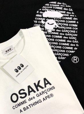 ☆COOKIE@A C 激似款☆2020/7到貨-字母+背後大猿人頭 短袖圓領T恤-黑/白-原創商品-無品牌!