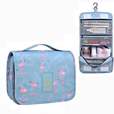 【24小時急速出貨】TR-04 懸掛式盥洗包 旅用收納包 加厚款 火烈鳥化粧品收納包