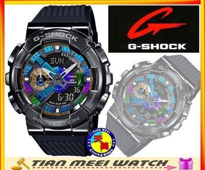 【天美鐘錶店家直營】【原廠CASIO】G SHOCK 不鏽鋼錶殼 GM-110B-1A 街頭嘻哈【下殺↘超低價有保固】