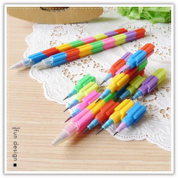 【贈品禮品】B2273 免削積木鉛筆/8節免削鉛筆/彩虹積木筆/百變變形筆/贈品禮品/益智文具