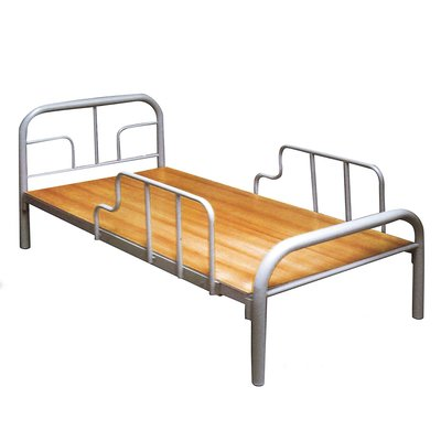 【優比傢俱生活館】19 簡單購-ㄇ型銀灰色3尺有護欄單人鐵床/床架/床台 LC646-2