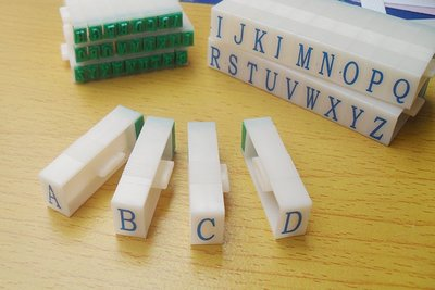 7mm Detachable English Letters A-Z Alphabet Stamp Set gift