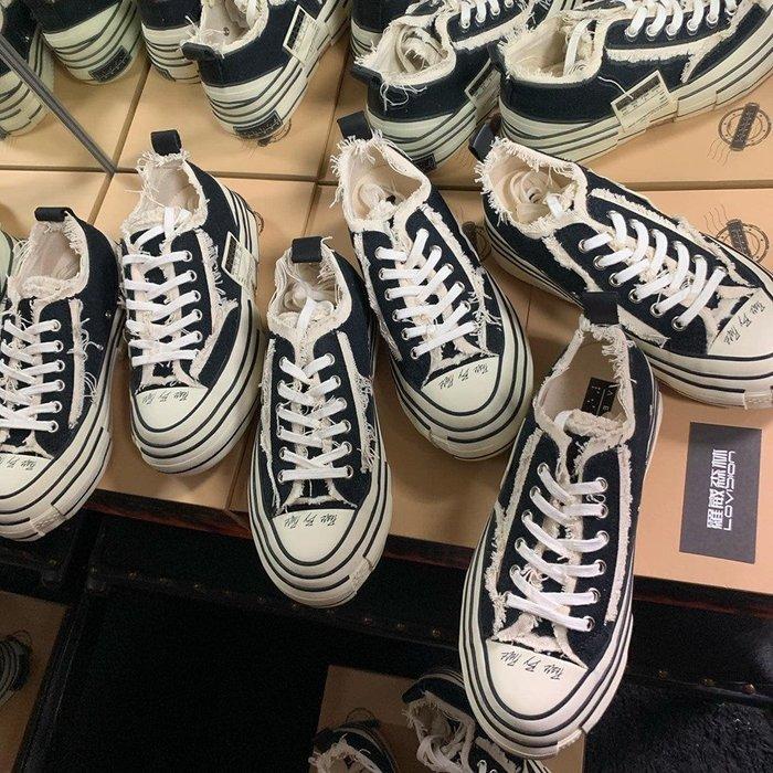 [ 羅崴森林 ] xVESSEL吳建豪現貨G.O.P.黑色經典 解構 帆布鞋35-45