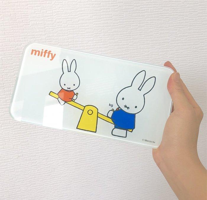 【JP.com】日本帶回 MIFFY 米飛兔 體重計 小尺寸好收納 MF-8229 約20cm×10cm