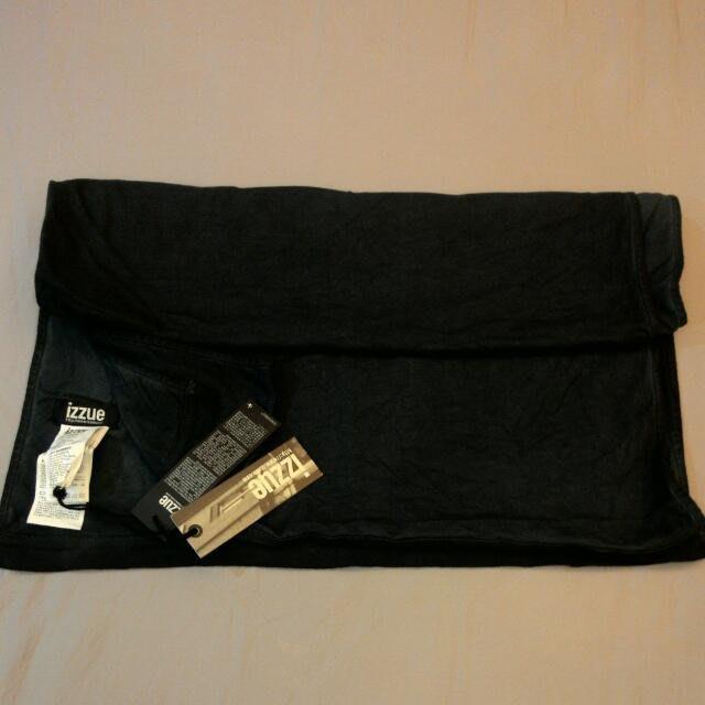 香港品牌IZZUE手染中性圍巾黑灰色