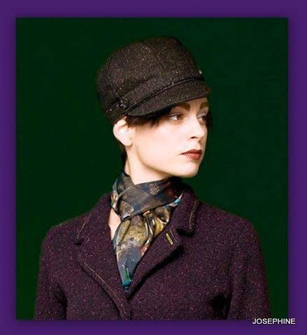喬瑟芬【Catherine Andre 】黑咖色毛混織呢海軍帽~全新品Made in France ~特價$8000含運