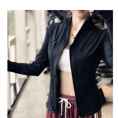 新款健身外套女拉鏈開衫立領長袖夾克緊身顯瘦速干跑步運動瑜伽服