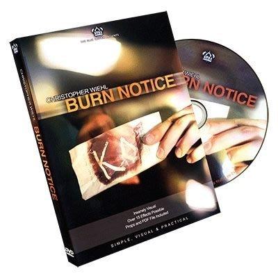 [魔術魂道具Shop] 美國原廠 ~ Burn Notice by Chris Wiehl ~ 黑名單 ~ (DVD+道具)