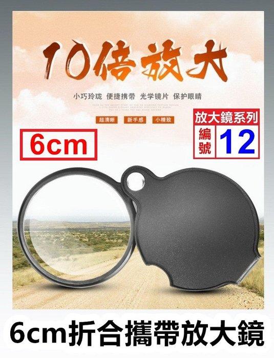 【喬尚拍賣】放大鏡系列【12】6公分折合玻璃10X放大鏡.老人放大鏡
