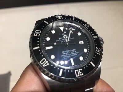 現貨實拍 Rolex 勞力士 DeepSea 116660 3900米 潛水 排氦 水鬼王 44mm 真品 二手 少戴