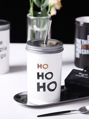 水杯 保溫杯馬克杯女北歐ins帶蓋簡約文藝復古風杯子男學生創意潮流個性水杯